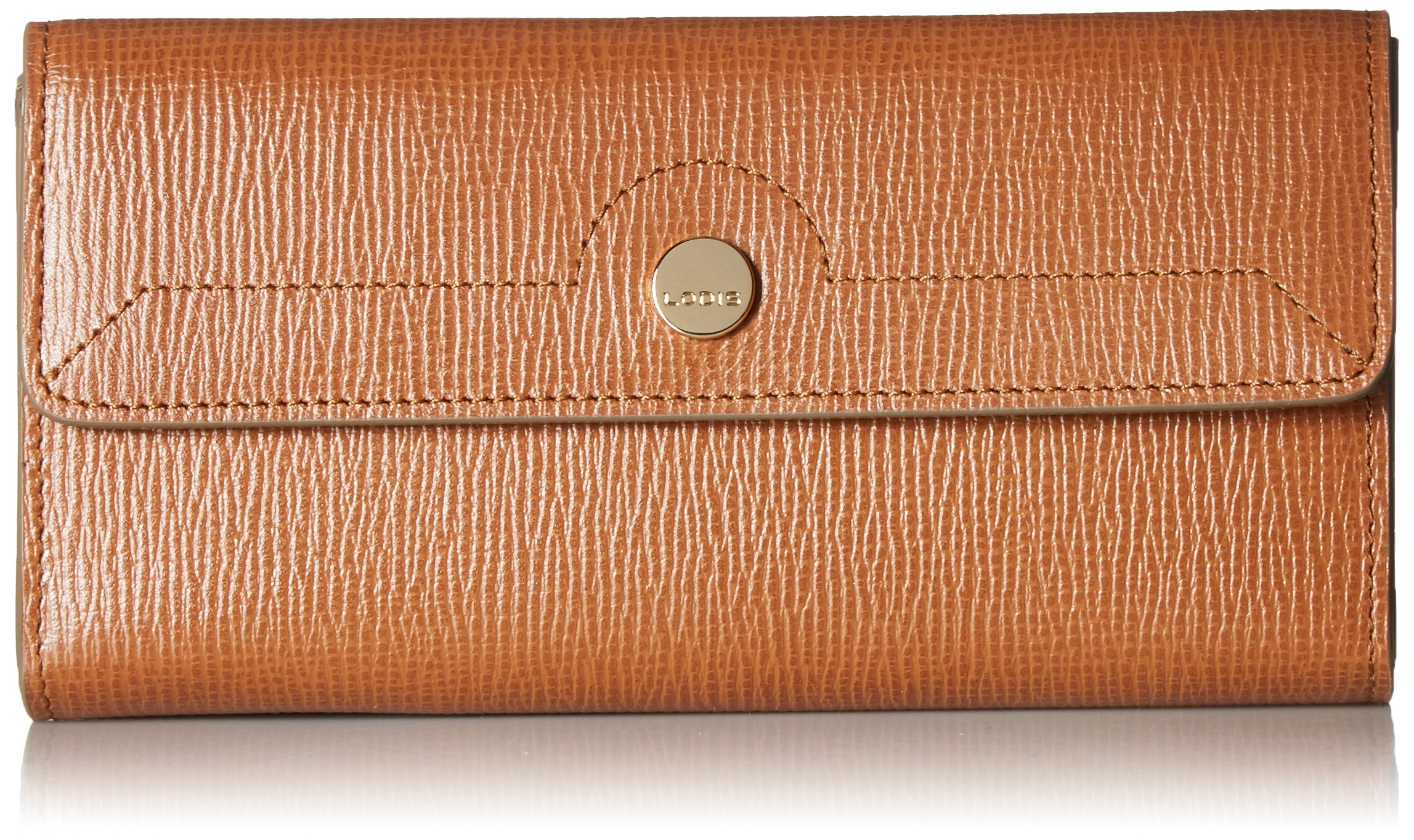 Lodis Women's Business Chic RFID Checkbook Clutch Cover, caramel One Size