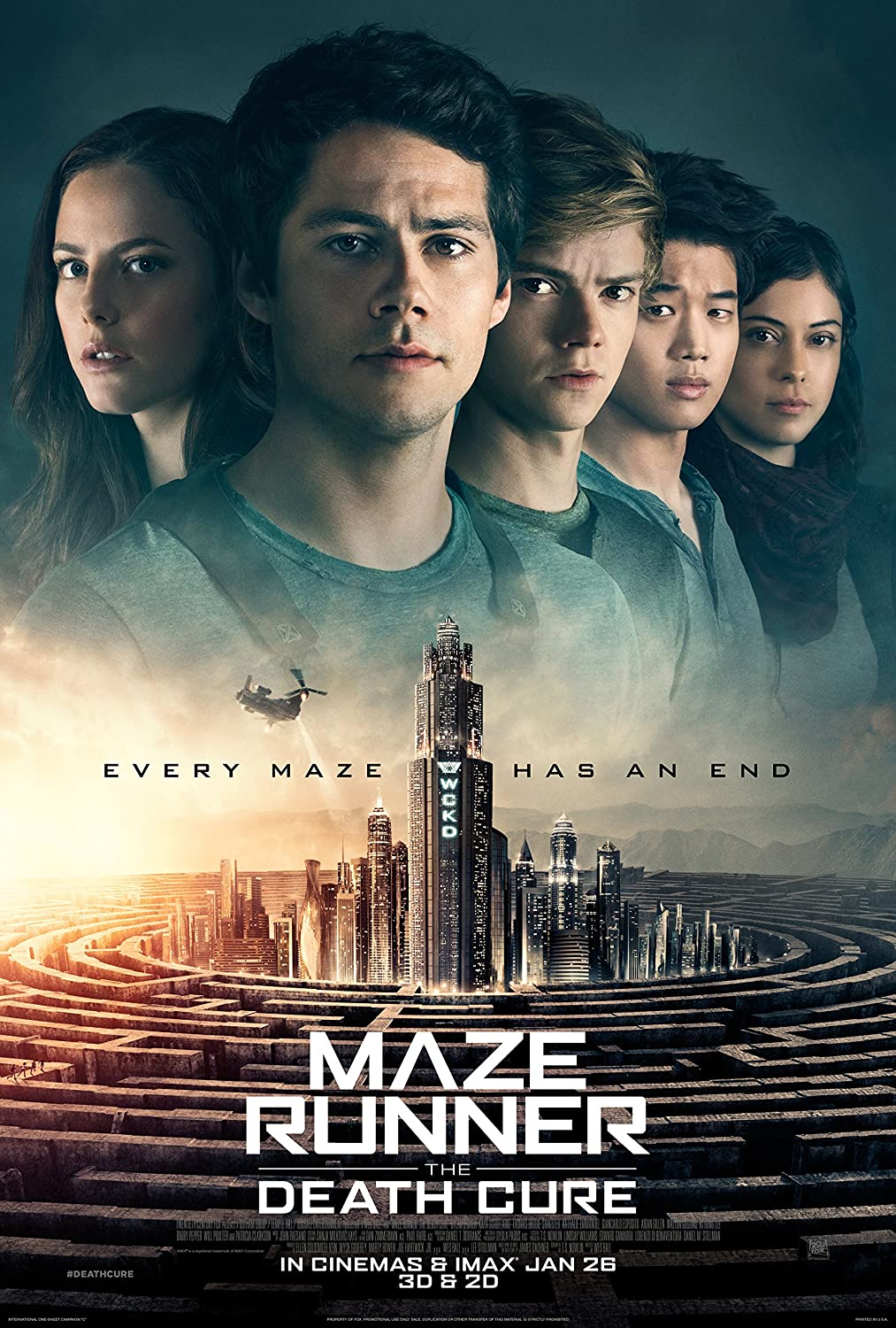 Maze Runner: The Death Cure Movie Poster Limited Print Photo Dylan O'Brien Size 24x36 #1