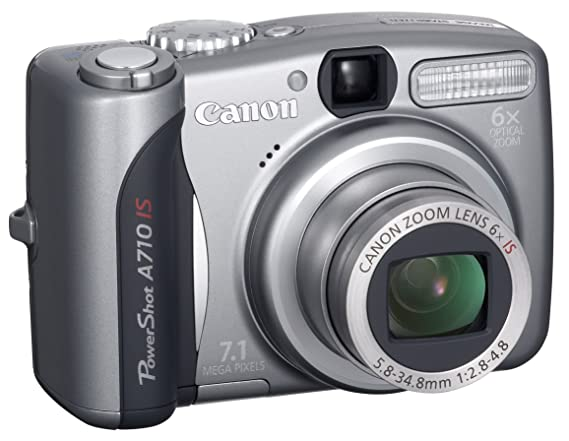 amazon com canon powershot a710 is 7 1mp digital camera with 6x rh amazon com Canon PowerShot A700 canon powershot a710is user manual