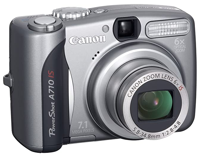 amazon com canon powershot a710 is 7 1mp digital camera with 6x rh amazon com canon powershot a710is user manual pdf canon powershot a710 is manuel