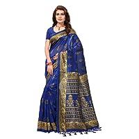 Indira Designer Women's Multi-Color Mysore Silk With Tessals Saree With Blouse Piece