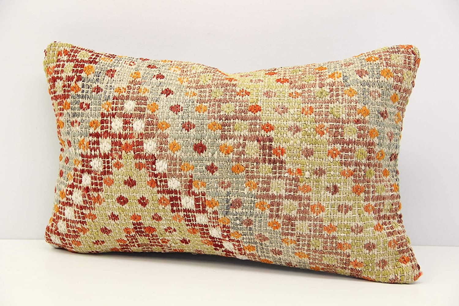 Amazon.com: Modern kilim pillow cover 12x20 inch (30x50 cm ...