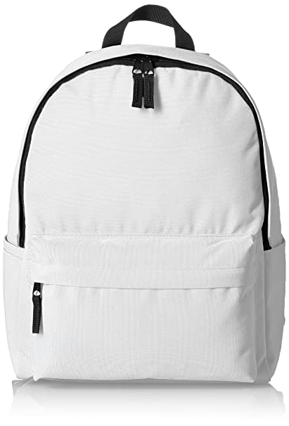614994d1644 Amazonbasics Classic School Backpack - White
