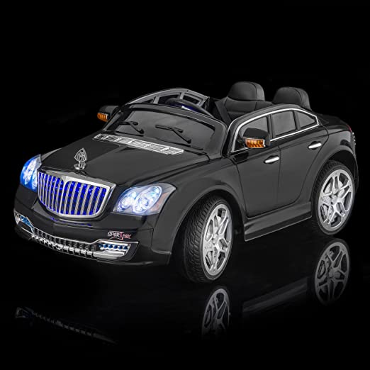 amazoncom sportrax maybach style luxury kids ride on car battery powered remote control wfree mp3 player black toys games