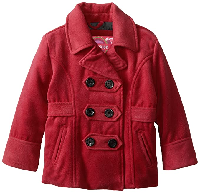 top fashion cheapest dirt cheap Amazon.com: Dollhouse Little Girls' Classic Peacoat with ...