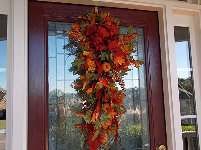 Amazoncom Fall Wreath Fall Wreaths For Front Door Fall Swags For