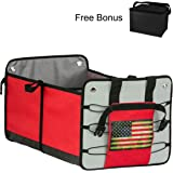 Premium Car Trunk Organizer & Free Cooler Bag- GREAT GIFT FOR MEN AND WOMEN - Auto Cargo Storage case -Perfect for your car, SUV, Truck ,RV ,Minivan ,and Groceries Organization.