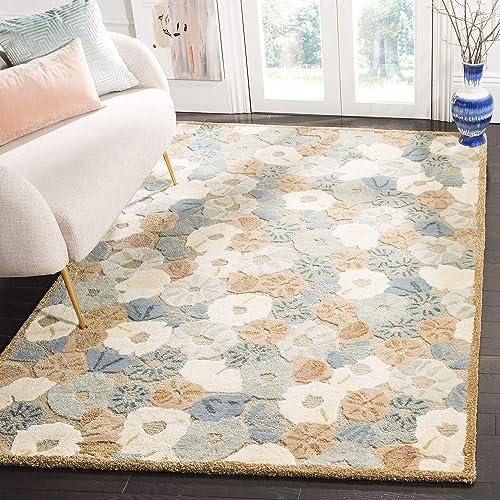 Martha Stewart Collection Premium Wool and Viscose Area Rug, 9 6 x 13 6 , Cornucopia Beige