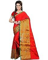 Glory Sarees Cotton Saree (Jari108_Red And Golden)