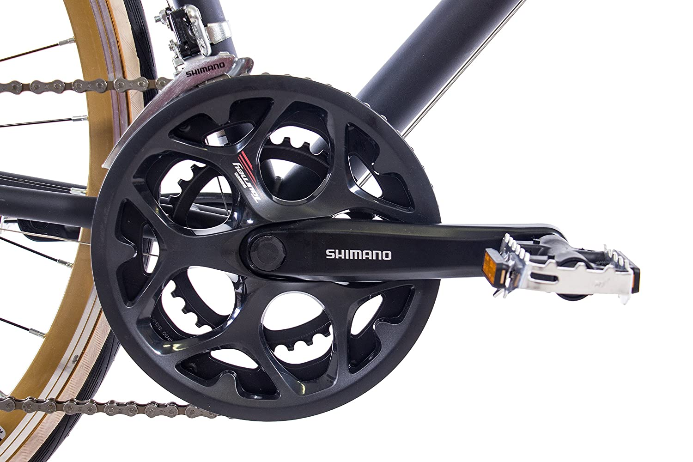 CHRISSON 28 Pulgadas Carreras Urban Rueda Bicicleta Vintage Road 1.0 con 14 g Shimano Retro Negro Mate: Amazon.es: Deportes y aire libre