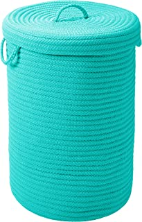 "product image for Simply Home Solid Hamper with lid, 16"" x 16"" x 24"", Turquoise"