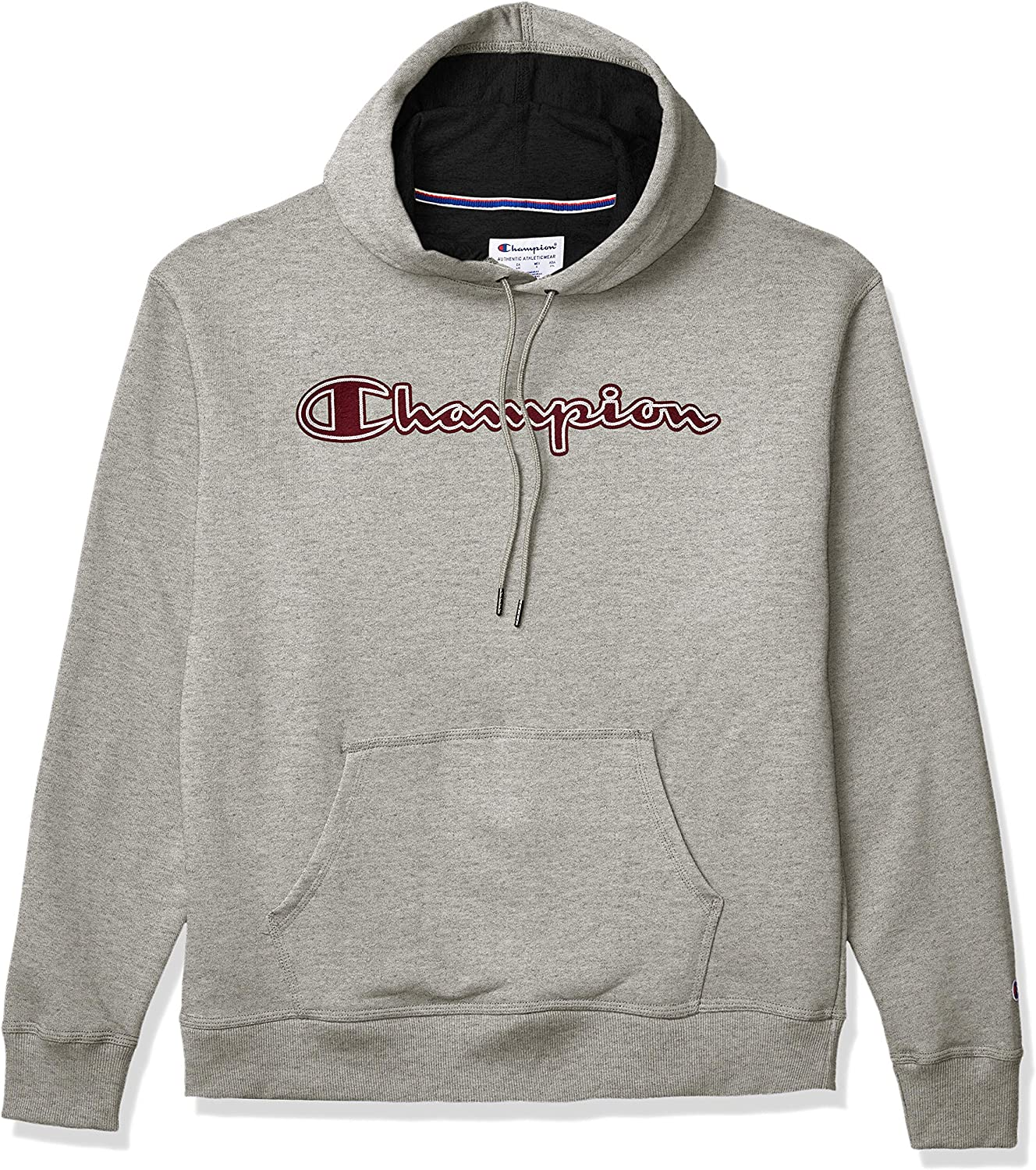 Champion Men's Powerblend Applique Hoodie at  Men's Clothing store