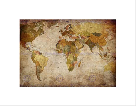 Amazon map globe world atlas antique style modern layout map globe world atlas antique style modern layout framed art print b12x13175 gumiabroncs Gallery