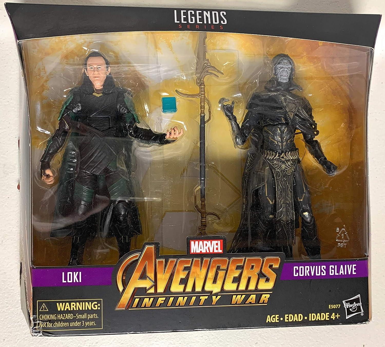 Loki Marvel Legends Avengers Infinity Guerre de 2 Pack Corvus Glaive Walmart loose