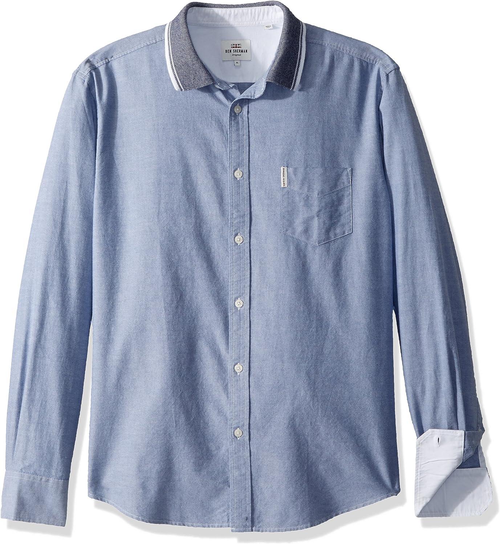 Ben Sherman Hombre MA13356 Camisa con botones - Azul - XX-Large: Amazon.es: Ropa y accesorios