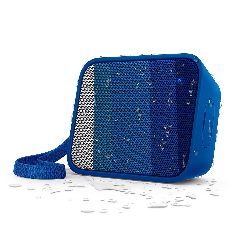 Philips BT110A/00 - Altavoz portátil inalámbrico (Bluetooth, a Prueba de Salpicaduras, Correa incluida, batería Recargable), Color Azul: Philips: Amazon.es: ...