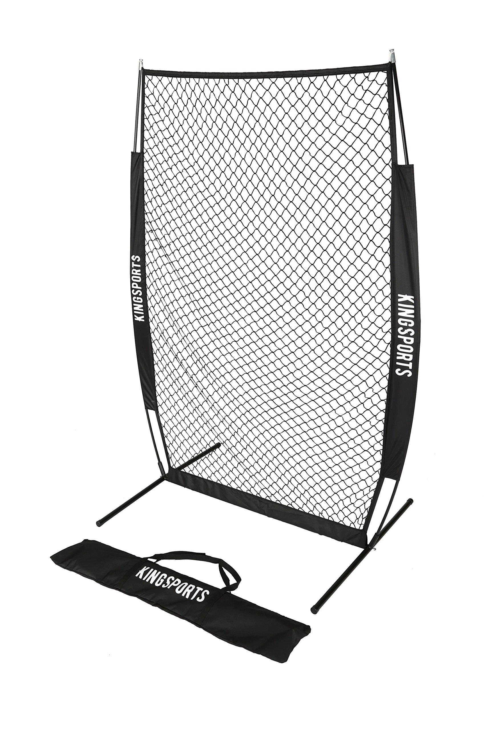 KingSports I-Screen Net, Protective Baseball Net/Protective Softball Pitching Screen with Bow Frame and Carry Bag
