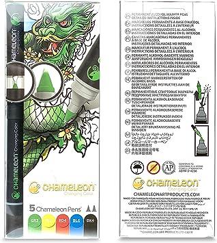 Chameleon Color Tones 5 Pen Set Alcohol Blending Gradient Pastel Colour Tones