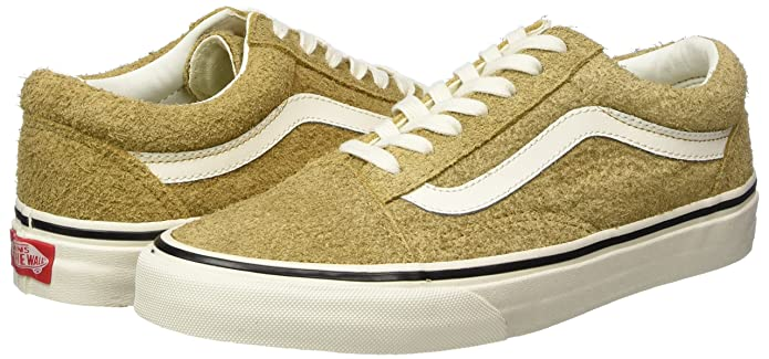 f97b9fef0b20 Vans Unisex Adults  Old Skool Suede Trainers Yellow (Fuzzy Suede Medal  Bronze) 7.5 UK  Buy Online at Low Prices in India - Amazon.in
