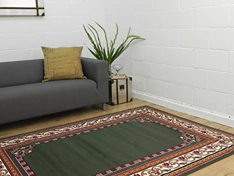 Tappeto Salotto Verde : Tradizionale border in verde salotto veranda camera da letto tappeto