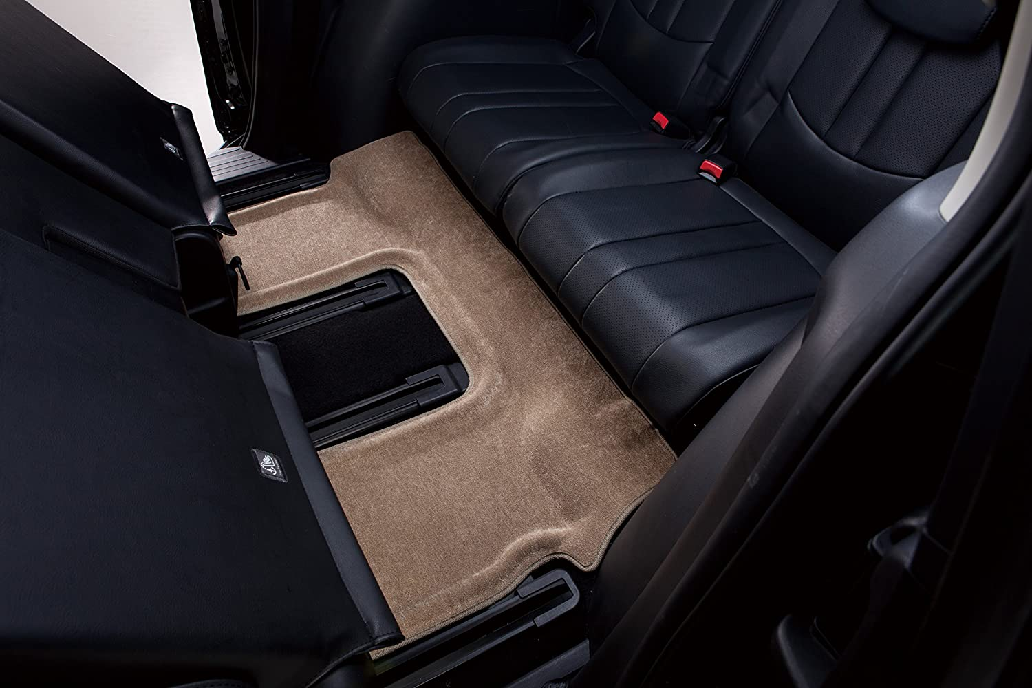 Classic Carpet Black 3D MAXpider Second Row Custom Fit Floor Mat for Select Dodge Journey Models