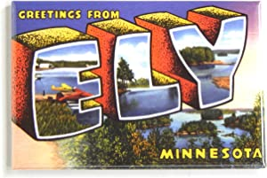 Greetings from Ely Minnesota Fridge Magnet (2 x 3 inches)