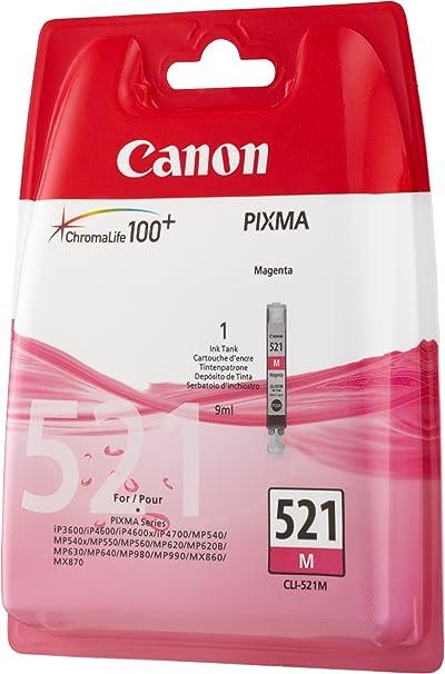 Canon Tintenpatrone Cli 521 M Magenta 9 Ml Original Für Tintenstrahldrucker Bürobedarf Schreibwaren