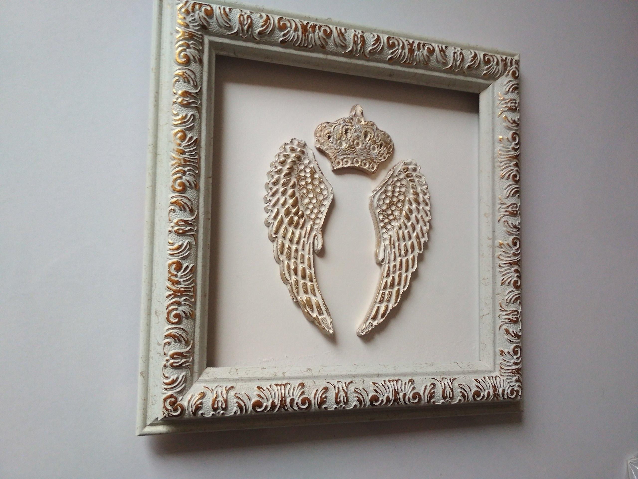 Angel wings wall decor (7.87x7.87)in