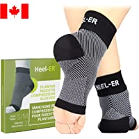 Plantar Fasciitis Socks - Heel-ER™ High Quality Compression Foot Sleeves with Arch & Ankle Support - Brace for Heel Pain Relief, Spur, Sore Feet - better than Night Splint for Men & Women