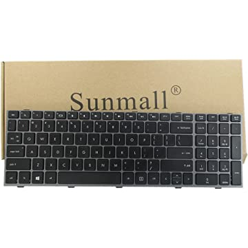 SUNMALL New Laptop Keyboard with Frame for HP ProBook 4540s 4540 4545s Series Compatible with Part