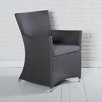 Wunderbar Armlehnstuhl Gartenstuhl Rocking In Grau Mit Sitzkissen Armlehnstuhl Für  Garten, Terrasse Oder Balkon   Gartenmöbel