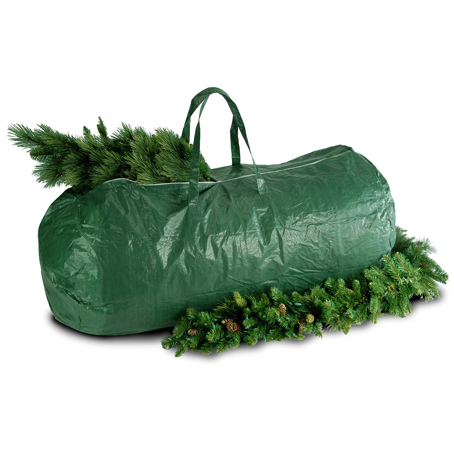 Storage bags for christmas trees - Amazon Com National Tree Heavy Duty Tree Storage Bag With Handles And Zipper Fits Up To 9 Foot S A Tbag1 Home Kitchen