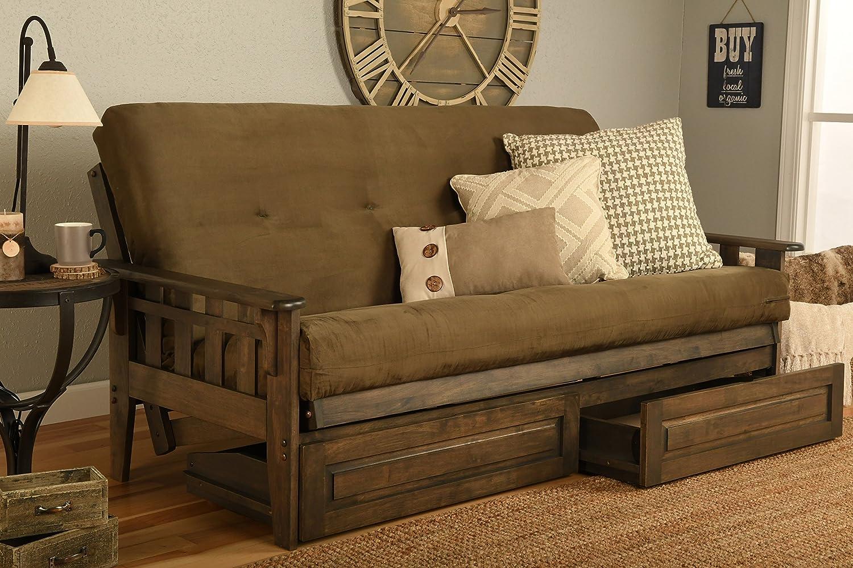Amazon Com Kodiak Furniture Kf Tucson Full Size Futon Set In Rustic