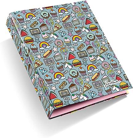 Jordi Labanda 14860 - Carpeta Stickers (Din A4, 210 X 297 Mm, 4 Anillas Tipo D De 40 Mm): Amazon.es: Oficina y papelería