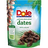 Dole California Whole Pitted Dates, 8 Ounce (Pack of 12)