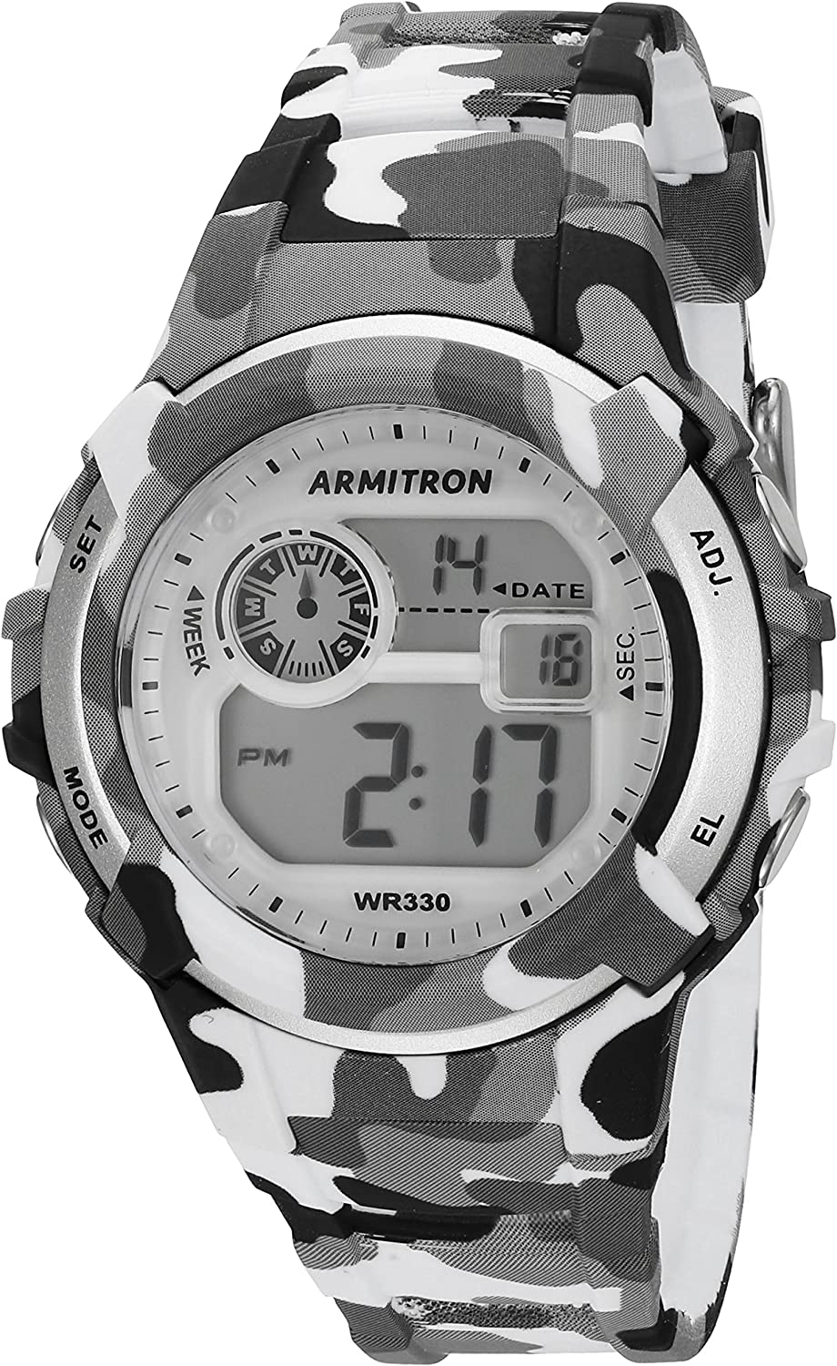 Armitron Sport Unisex 45 7059CGY Digital Grey and Black Camouflage Resin Strap Watch