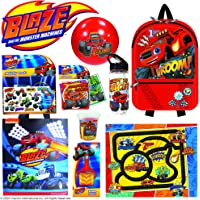 Blaze and The Monster Machines Showbag Boys Gift Pack with Backpack Cap Play Mat Play Dough Activity Set – Kids Show Bag…