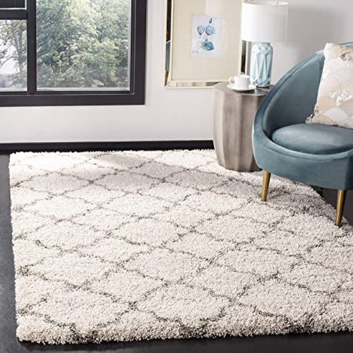Safavieh Hudson Shag Collection SGH282A Moroccan Trellis 2-inch Thick Area Rug