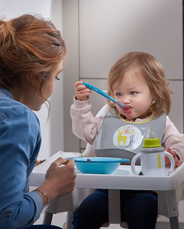 Beaba in silicone fosforescente Cucchiaio ergonomico per neonati