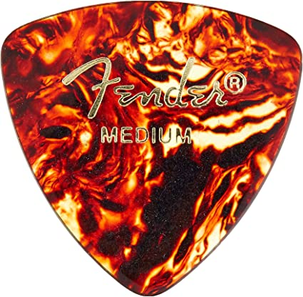 Heavy Tortoise Shell mandolin acoustic guitar Fender 346 Shape Classic Celluloid Picks 12 Pack and bass 346 Multicolor for electric guitar
