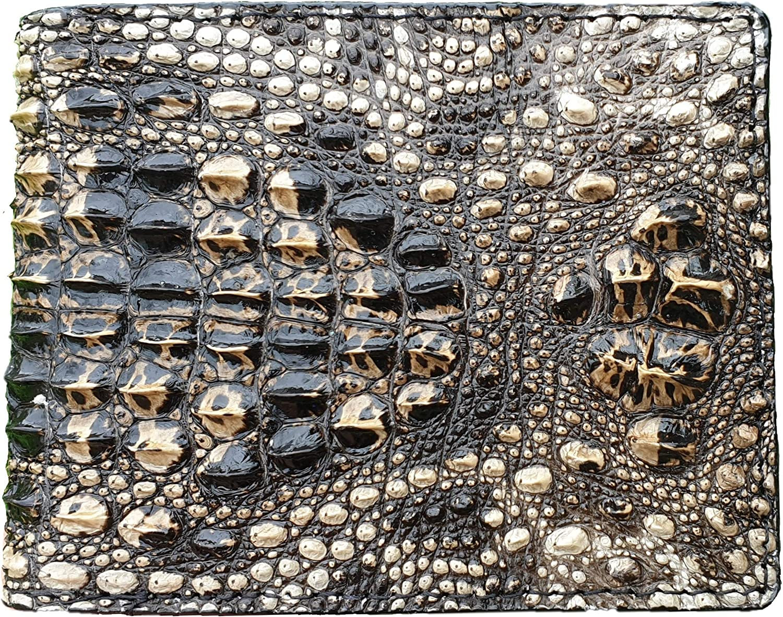 Vietnamcreations Mens 100% Handmade Crocodile Leather Wallet RFID