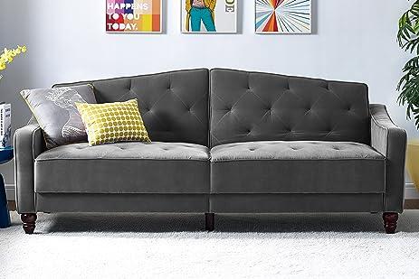 Amazing Novogratz Vintage Tufted Sofa Sleeper, Couch With Mid Century Vintage  Design, Convertible Futon In