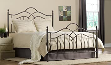 Hillsdale Furniture 1300HKR Oklahoma Headboard With Rails, King, Bronze
