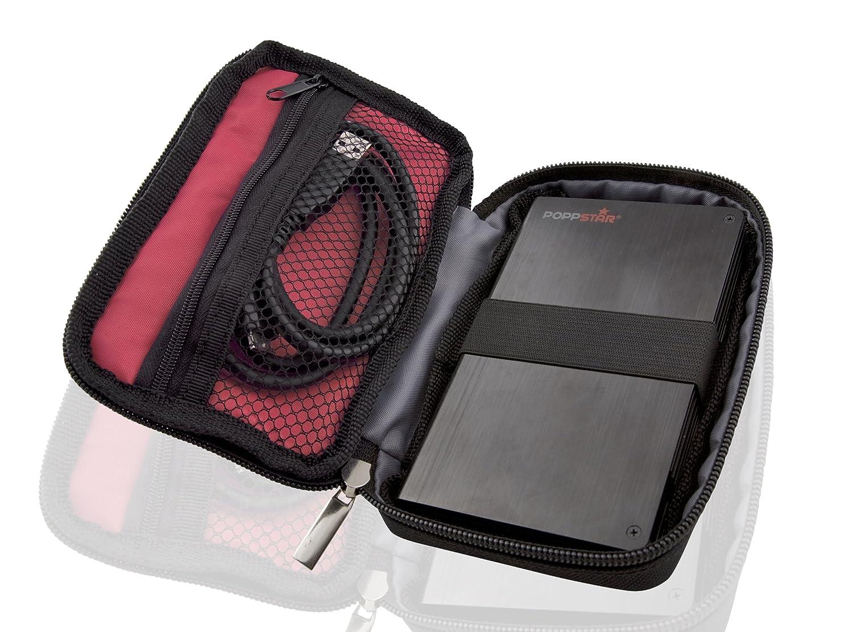 Poppstar 1000250 Custodia per HDD 2.5 Nero