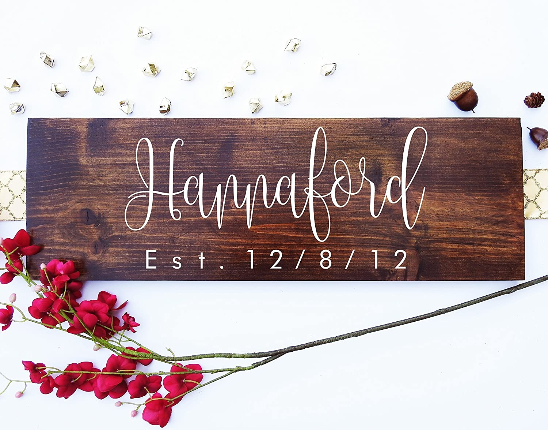 Amazon Com Rustic Wedding Signs Wood Wall Art Personalized