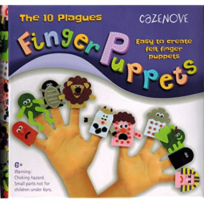 Ten Passover Plagues Felt Finger Puppet Kit: Everything Else