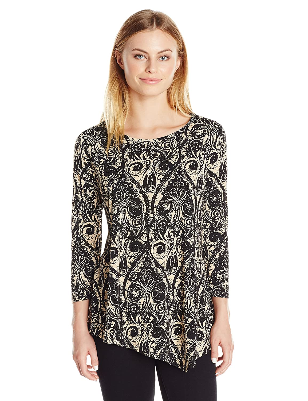 Rafaella Women's Petite Size Ornamental Knit Tunic PRKH6167