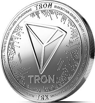 Moneda física de Tron revestida en Plata auténtico. Una ...