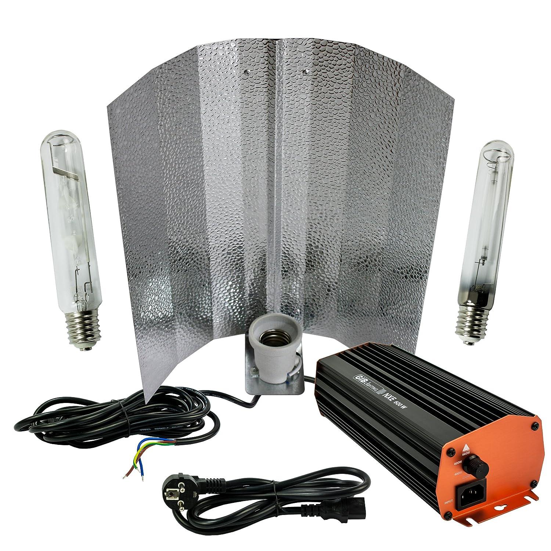 600-Watt NDL Grow-set Bausatz mit Blüte (HPS) & Wuchs (MH ...