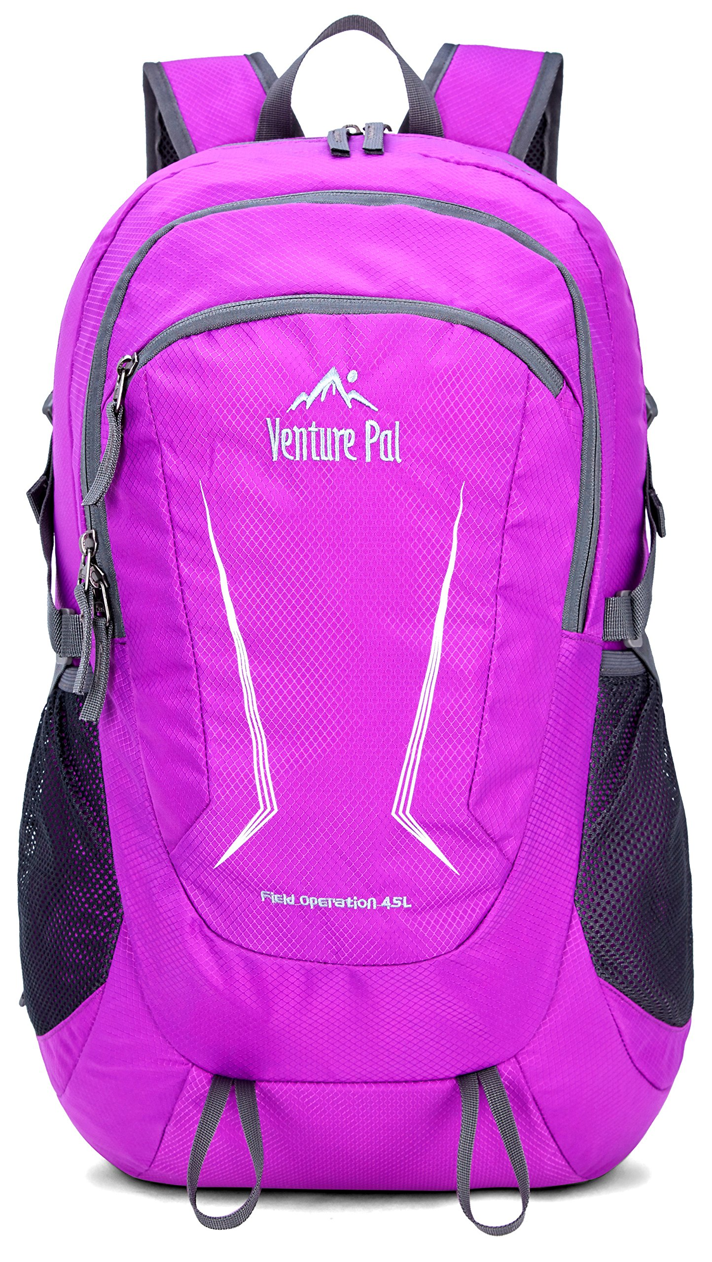 Venture Pal Large 45L Hiking Backpack - Packable Lightweight Travel Backpack Daypack for Women Men (Purple)